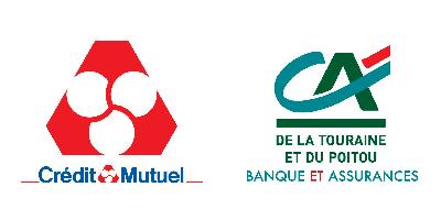 Crédit Mutuel du Centre (Chambray-Lès-Tours) et Crédit Agricole (Ste Maure-de-Touraine)